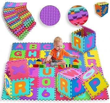Schramm Spielmatte 86tlg Teppich Puzzlematte Kinderteppich Matte Schutzmatte