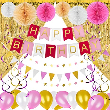Amazon Happy Birthday Decorations Party Supplies Girls Women
