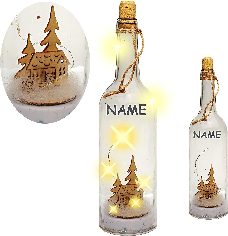 Name 6 St/ück LED /_ Lieblings Platz /_ inkl alles-meine.de GmbH Glas LICHT Dekoflasche // Flasche // Bierflasche Lichterflasche warmwei/ß Flasc.. 25 cm Batterie betrieben