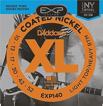 DAddario EXP140 - Juego de Cuerdas para Guitarra Eléctrica de Acero y Níquel,