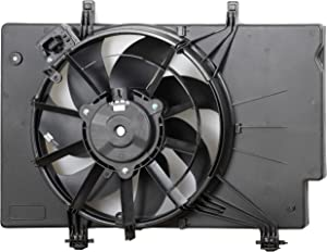 MYSMOT Engine Cooling Fan Assembly For Ford Fiesta 2011-2013 / Ford Fiesta 2014-2017 L4 1.6L with Air Conditioning (excluding Turbo Models) BE8Z8C607A