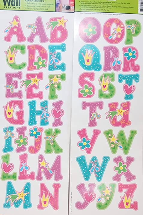 Main Street Wall Creations Jumbo Stickers   A B Cu0027s Princess Pink Part 12