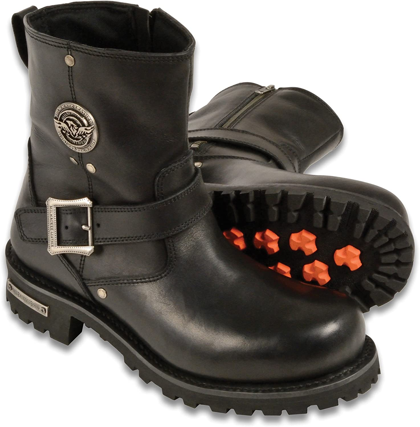 Wide Short Harness Boots with