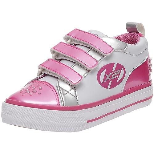 Heelys Sparkler - Zapatillas de cierre de velcro con ruedas infantiles, blanco, 31: Amazon.es: Zapatos y complementos