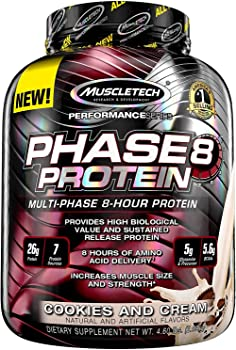 MuscleTech Phase8 Cookies and Cream 4.6 Pound Protein Powder