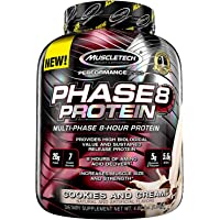 MuscleTech Phase 8 Multiphase 8-Hour Protein - 4.60 lbs, 2.09 kg (Cookies And Cream)