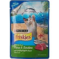 طعام قطط رطب من سمك التونا والسردين للقطط البالغة من بورينا فريسكيز، 80 غرام