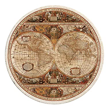 Thirstystone TS2006 Old World Passages Printed Sandstone Coaster Set, Antique Map