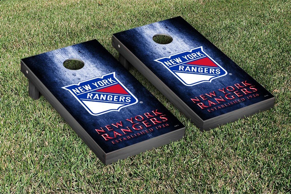 New York Rangers NHL Regulation Cornhole Game Set Museum Version by Victory Tailgate (Image #1)