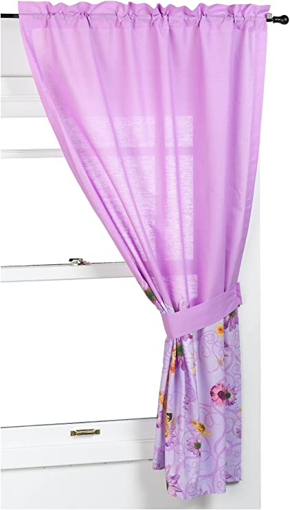 Disney hadas como Campanilla de viento ventana cortina Drapes