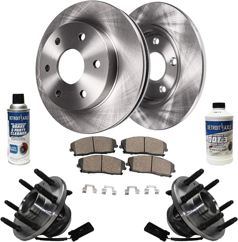 Ceramic Pads Front Brake Rotors Chevy//GMC Tahoe Yukon Silverado Sierra 1500