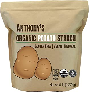 product image for Anthony's Organic Potato Starch, Unmodified, 5 lb, Gluten Free & Non GMO, Resistant Starch