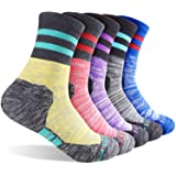 Women's Hiking Walking Socks, FEIDEER Multi-pack Outdoor Recreation Socks Wicking Cushion Crew Socks