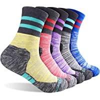 FEIDEER Mutli pack Women's Hiking Walking Outdoor Recreation Socks Wicking Cushion Crew Socks