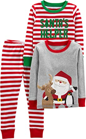 NEW Christmas Carters Infant//Toddler Santa Pajama Set in Green 18 Months or 4T