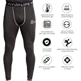 Fitup Life Full Pants Polyester & Spandex Compression- Black (Imported)