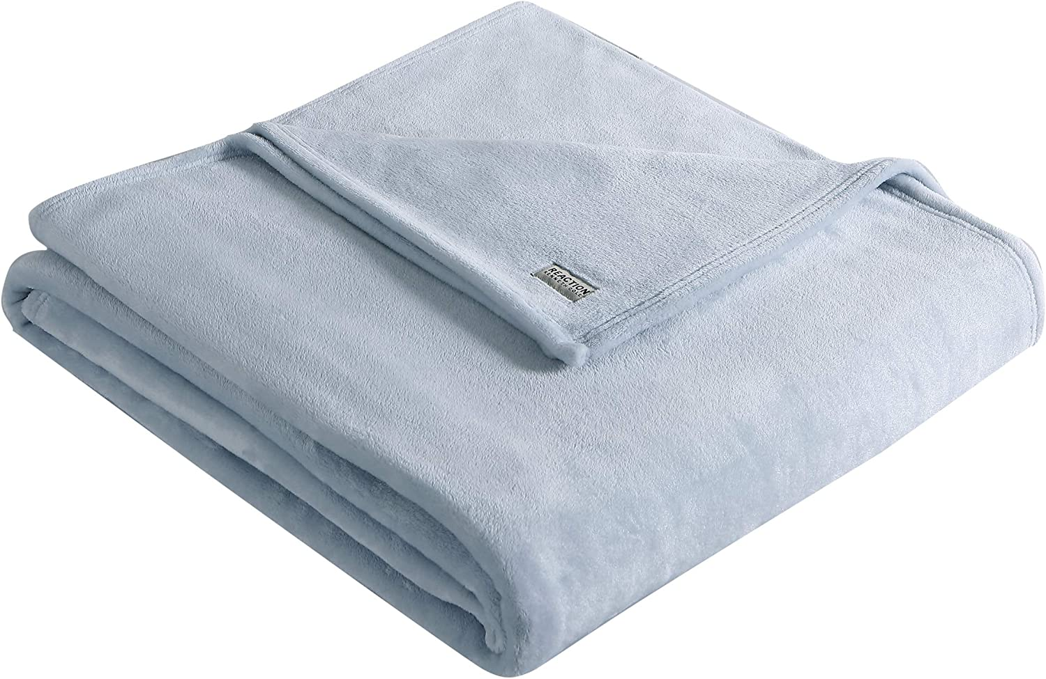 Kenneth Cole Reaction | Solid Collection | Blanket - Ultra-Plush Fleece - Luxuriously Warm Bedding - Machine Washable, Twin, Blue