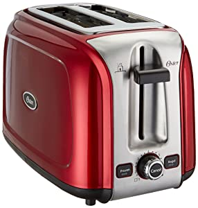 Oster 2-Slice Toaster, Metallic Red (TSSTTR2SRD)