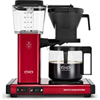 Moccamaster 53944 KBGV Select 10-Cup Coffee Maker, Candy Apple Red, 40 ounce, 1.25l