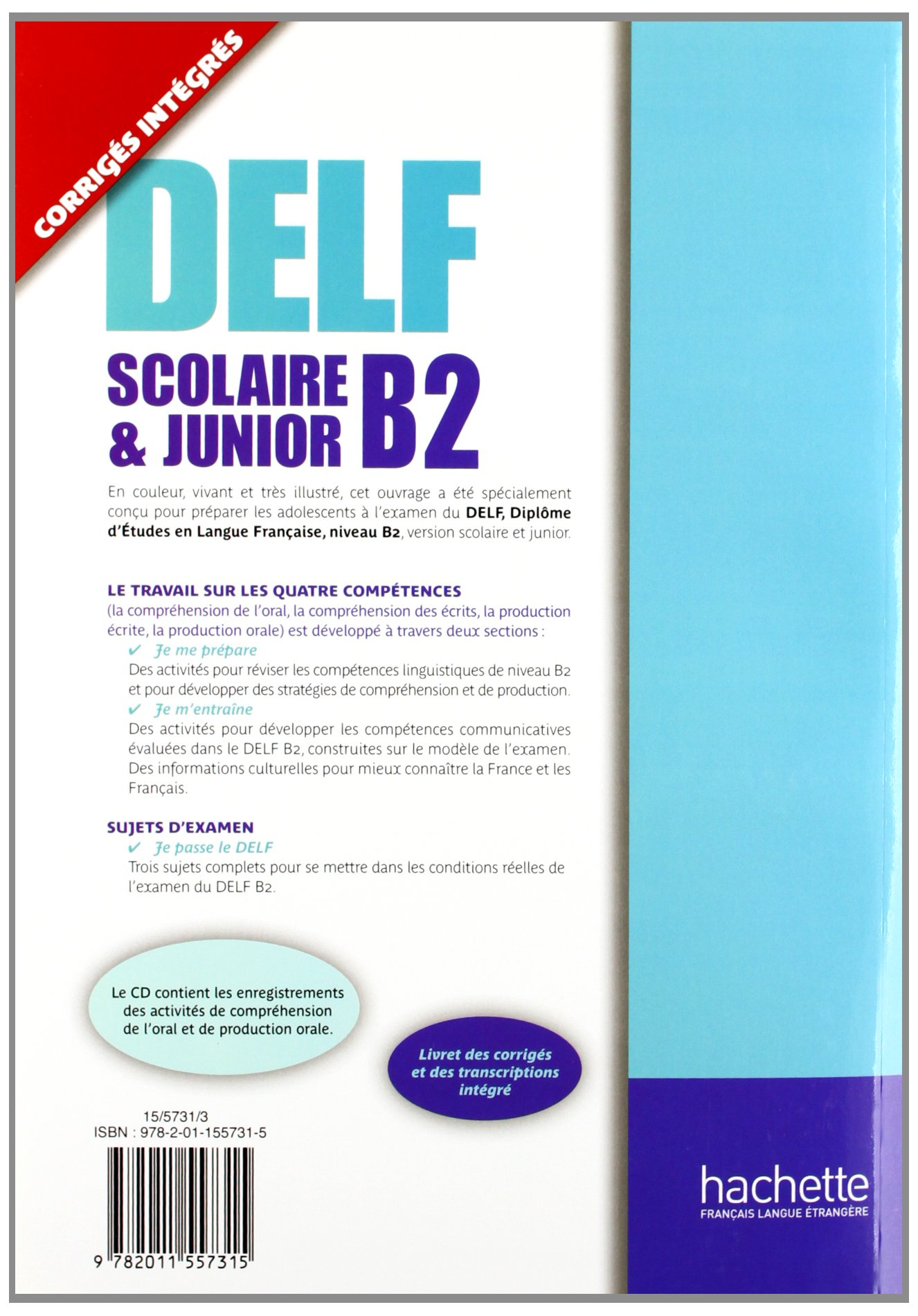 Delf B2 Scolaire Et Junior + CD (Delf/Dalf) (French Edition): Delphine Barreau, Helene Hullin: 9782011557315: Amazon.com: Books