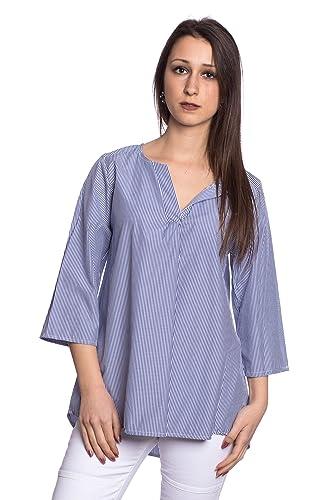 Abbino J16361 Blusas Tops para Mujer - Hecho EN Italia - 6 Colores - Entretiempo Primavera Verano Ot...