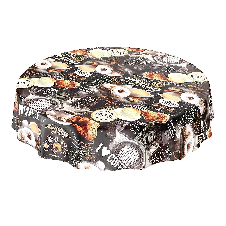 ANRO Tischdecke Wachstischdecke Wachstischdecke Wachstischdecke Wachstuch Wachstuchtischdecke Kaffee Coffee Donut 2000 x 140cm - 20M B07435JV73 Tischdecken d50fa9
