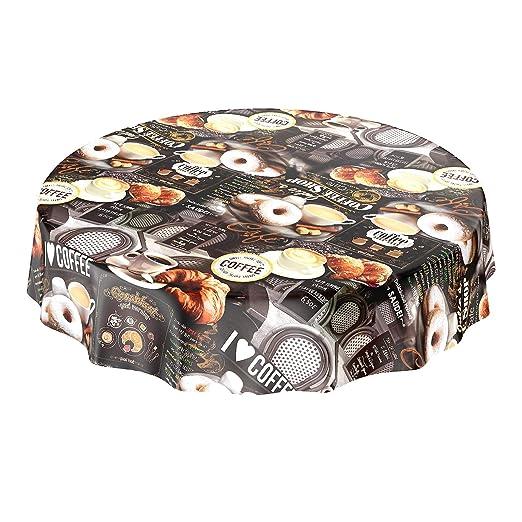 Mantel de hule, lavable, con diseño de café, donuts y croissants ...