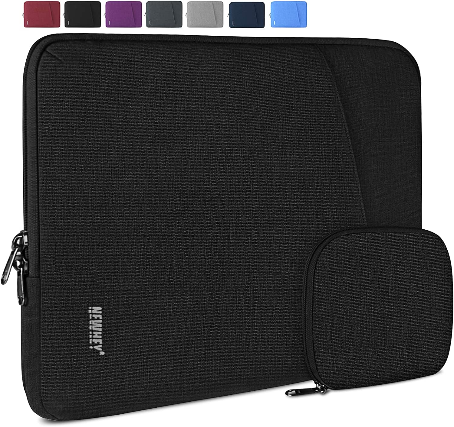 Laptop Sleeve Case 13-14 Inch Water-Resistant Business Computer Case Compatible with 13 Inch MacBook Air/Pro Notebook Protective Tablet Laptop Sleeve Bag for Men Women Black