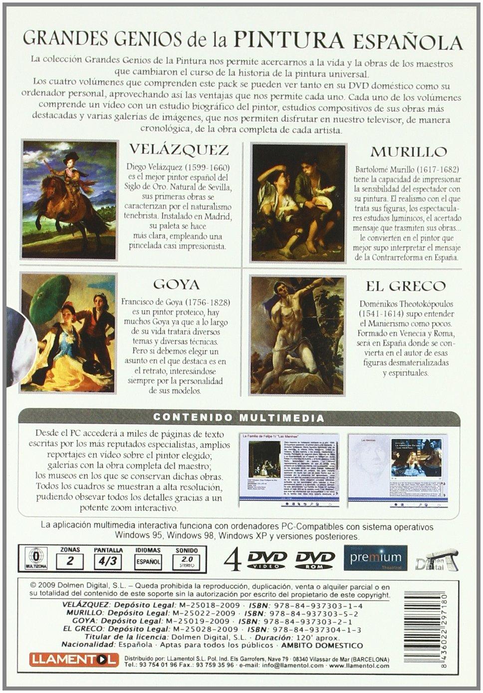Grandes Genios de la Pintura Española [DVD]: Amazon.es: Varios: Cine y Series TV