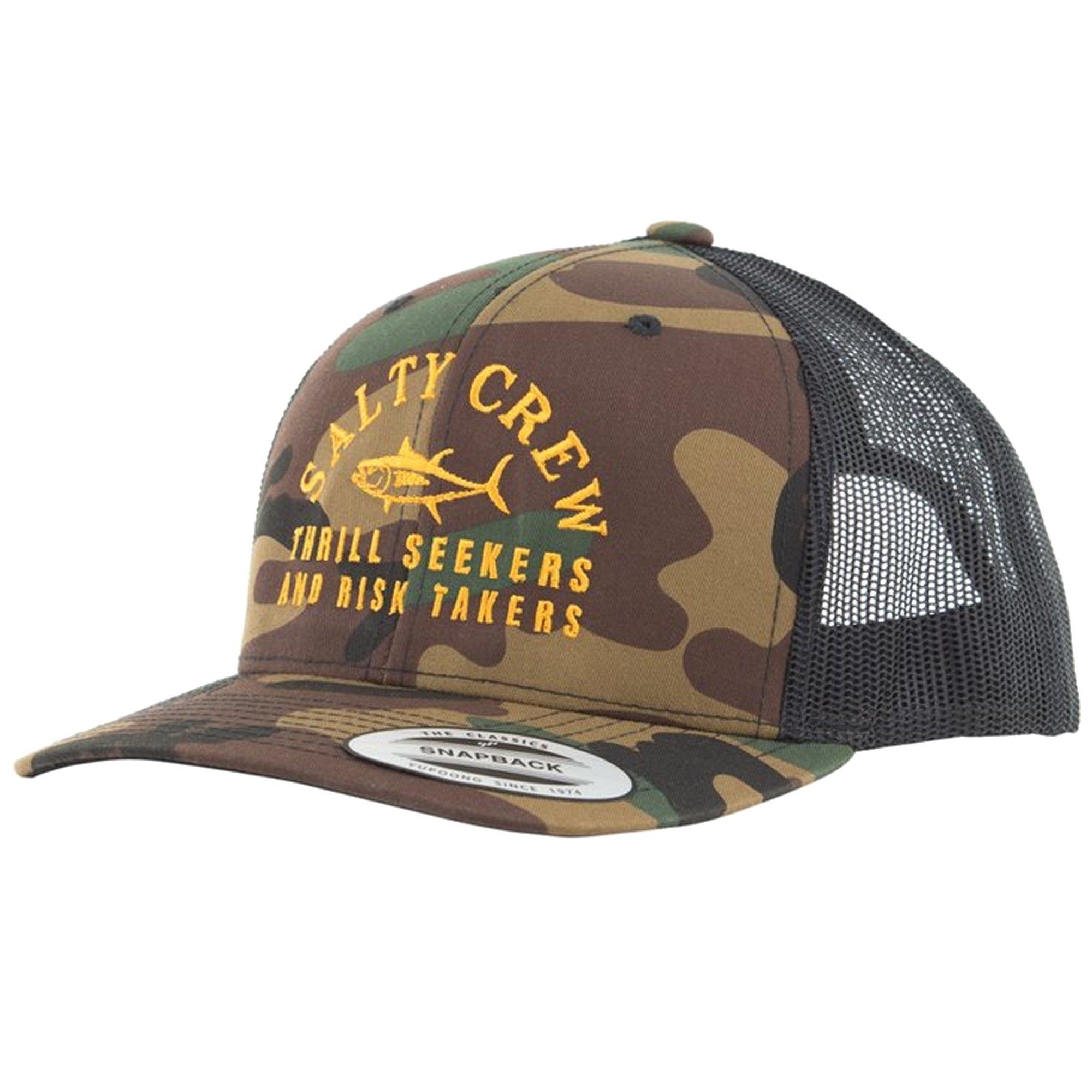 low priced 17ede 5c5bf Salty Crew Men s Fish Market Retro Trucker Hat, Camo, One Size