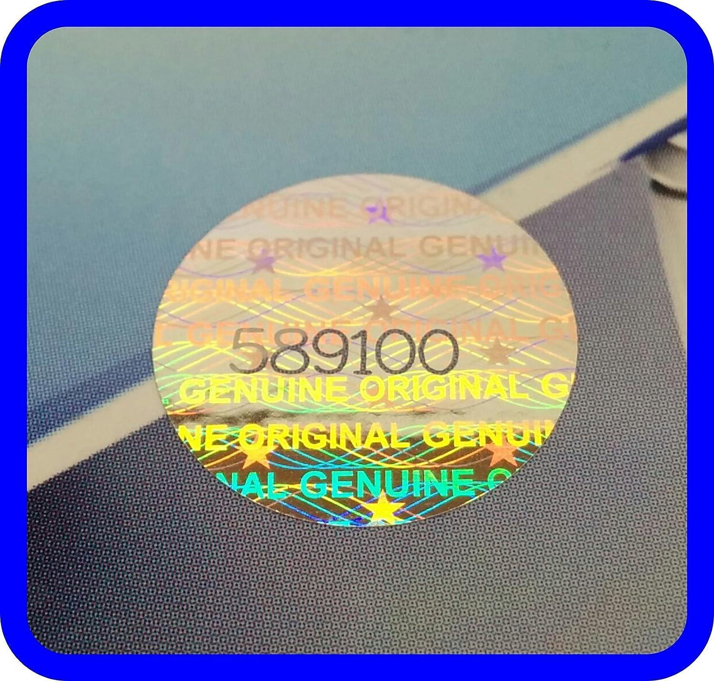 Lot de 180 /étiquettes hologramme avec num/éros de s/érie autocollantes rondes 15 mm