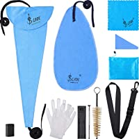 11 in 1 Saxophone Cleaning Care Kit for Clarinet, Flute and Wind Instrument, Include Storage Bag, Thumb Rest, Cleaning Cloth, Gloves, Mouthpiece Brush, Mini Screwdriver, Strap and Reed Case