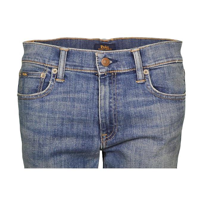 Ralph Lauren Jean Skinny Tompkins Bleu pour Femme  Amazon.fr  Vêtements et  accessoires 99c2900be46f