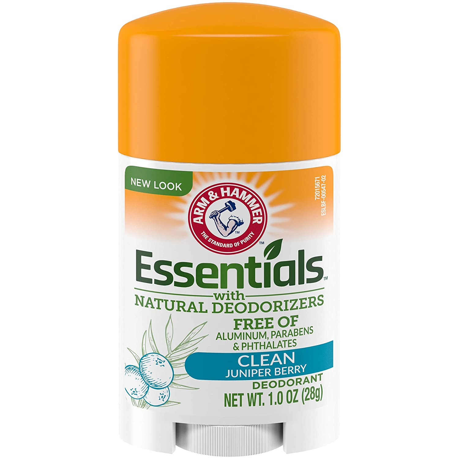 Arm & Hammer Essentials deodorant with Natural Deodorizers Clean, (Pack of 6)