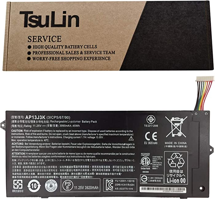 TsuLin AP13J3K Laptop Battery Replacement for Acer Chromebook 11.6