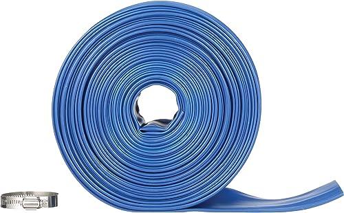 Blue-Devil-75-Foot-Backwash-Hose-for-Pool-with-Hose-Clamp