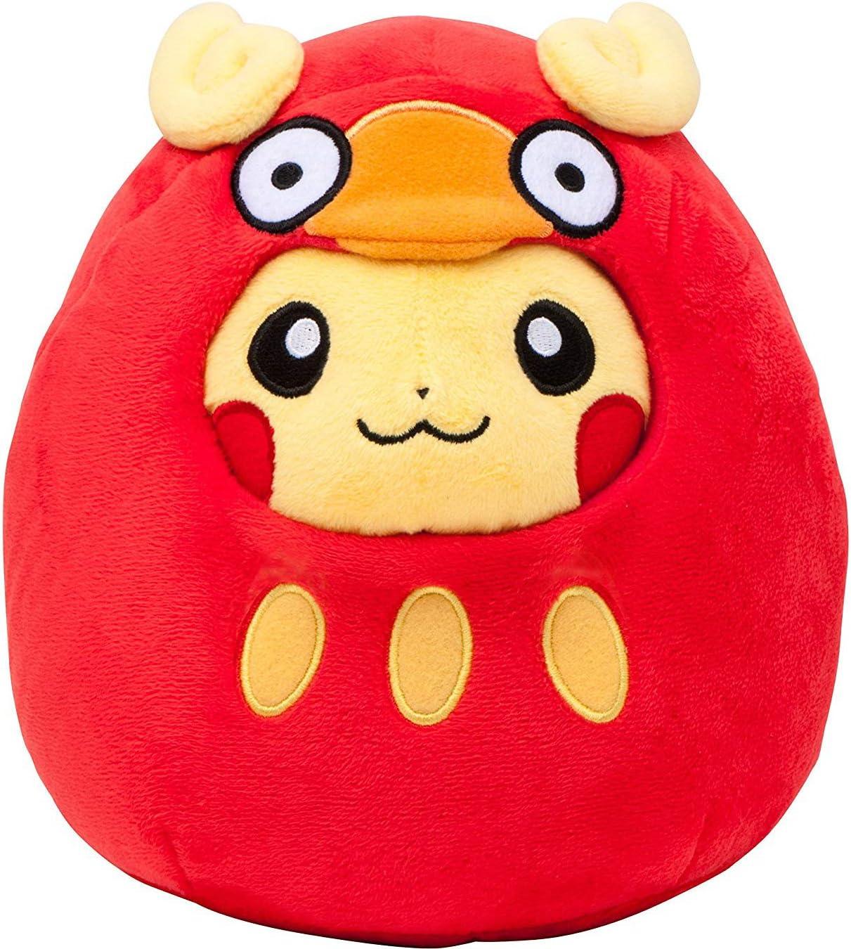 Pokemon Center Original Muñeca De Felpa Garchomp-Maniac Pikachu