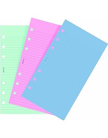 Filofax Personal - Recambio para agenda de anillas, hojas rayadas para notas, color verde