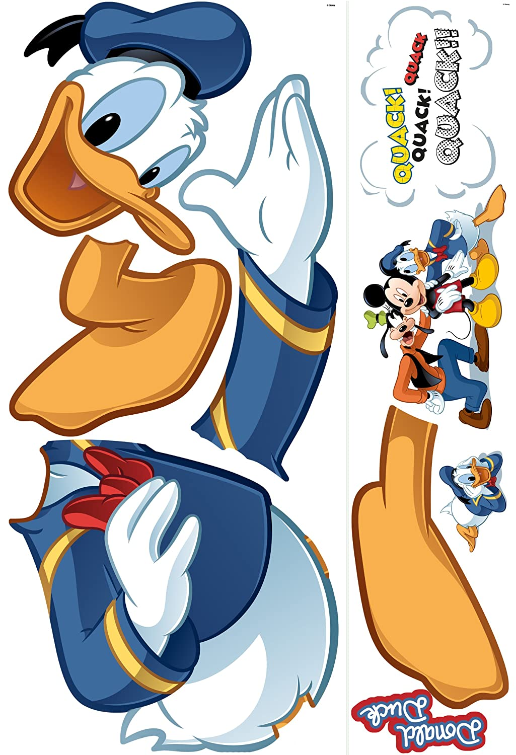 Amazon.com: Roommates Rmk1512Gm Donald Duck Peel And Stick Giant Wall Decal:  Home Improvement