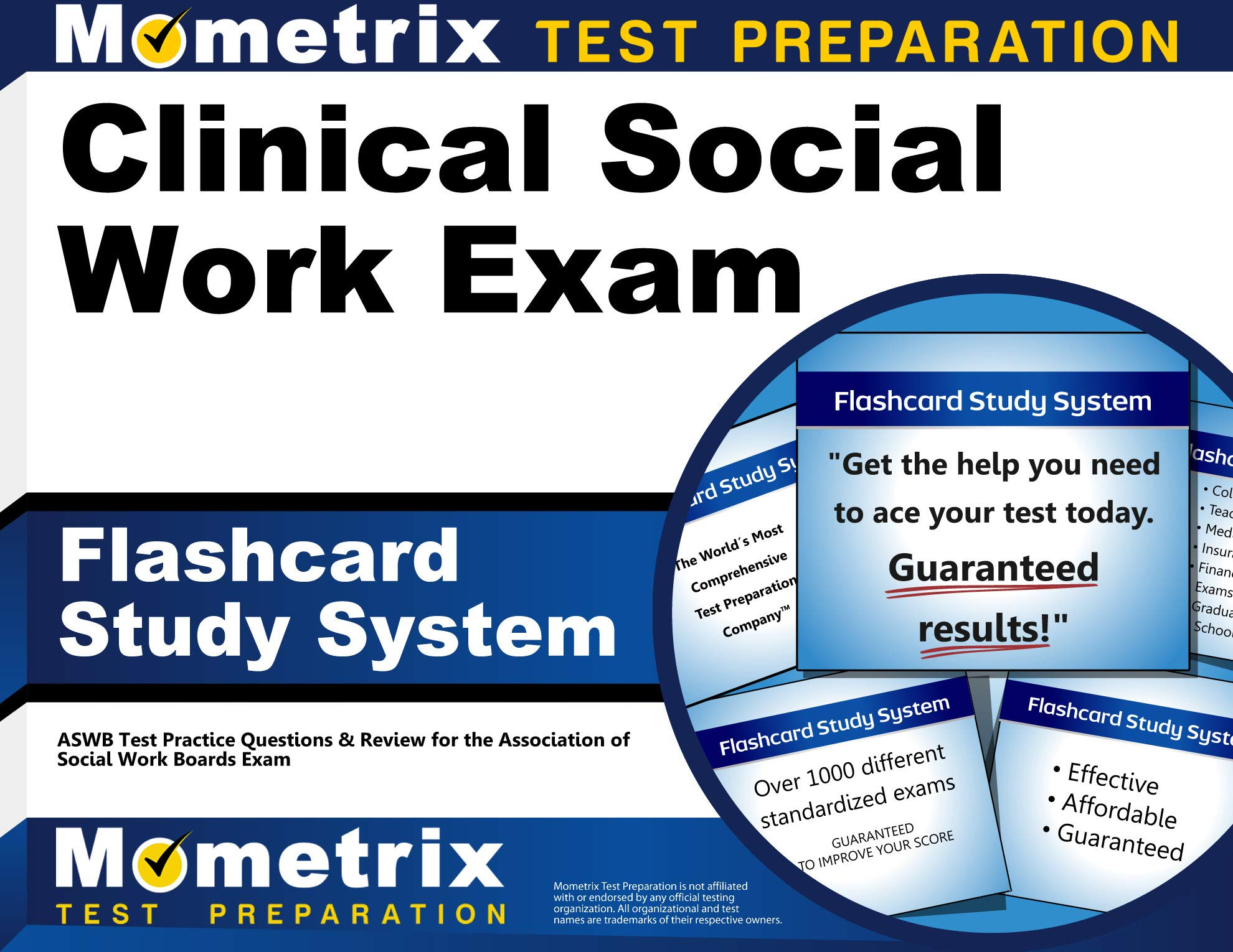 Clinical Social Work Exam Flashcard Study System: ASWB Test Practice Questions & Review for the Association of Social Work Boards Exam (Cards) by Mometrix Media LLC