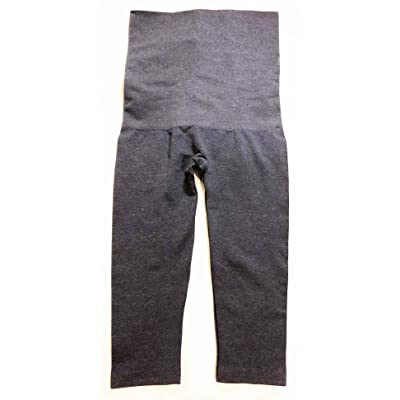 Secret Treasures Women's Level 2 Control Top Seamless Mid-Waist Medium Support Shaping Capri Leggings - Denim Blue (L/XL) at Women's Clothing store