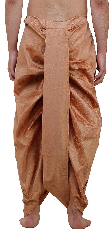 Maenner-Dhoti-Dupion-Silk-Plain-handgefertigt-fuer-Pooja-Casual-Hochzeit-Wear Indexbild 69