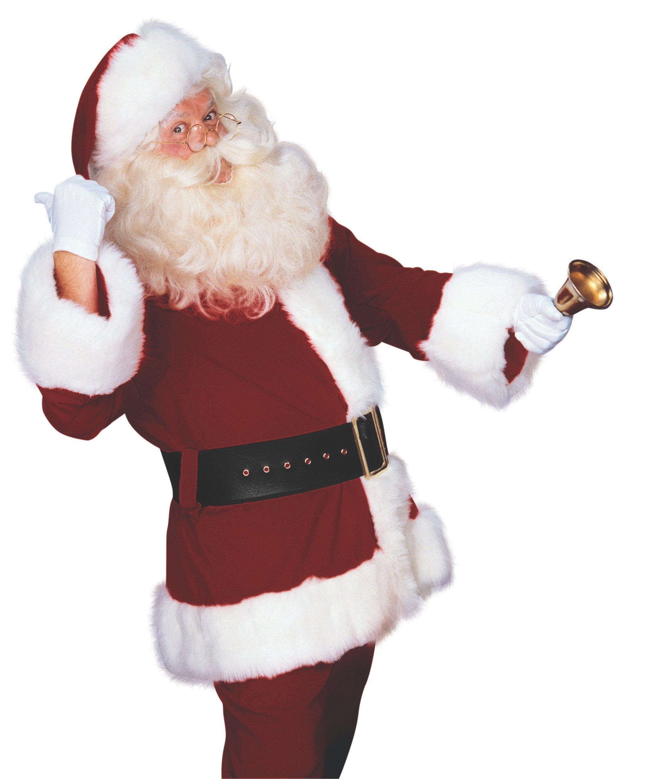 Rubie's Deluxe Velveteen Santa Suit, Red/White, Standard by Rubie's