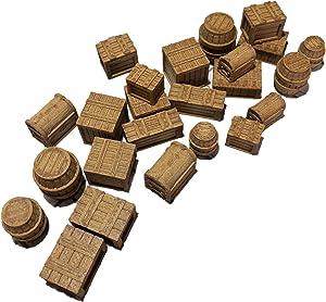 Crates, Barrels and Chests - 28mm Gaming Terrain