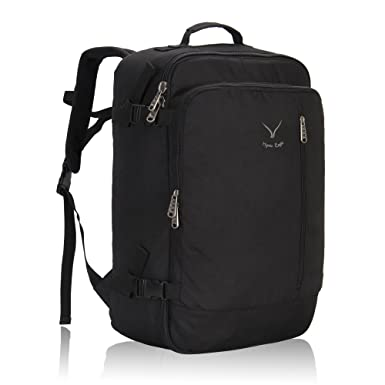 552627639118 Hynes Eagle 38L Flight Approved Weekender Carry on Backpack Black 2017