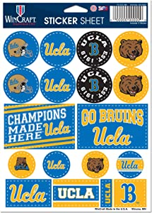 "WinCraft NCAA UCLA California Los Angeles Bruins 5"" x 7"" Variety Sticker Sheet"