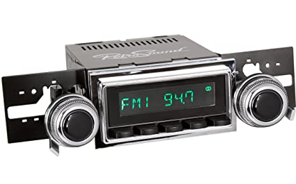 RetroSound HB-127-53-73 Hermosa Direct-fit Radio for Classic Vehicles  (Black Face & Buttons and Chrome Bezel)