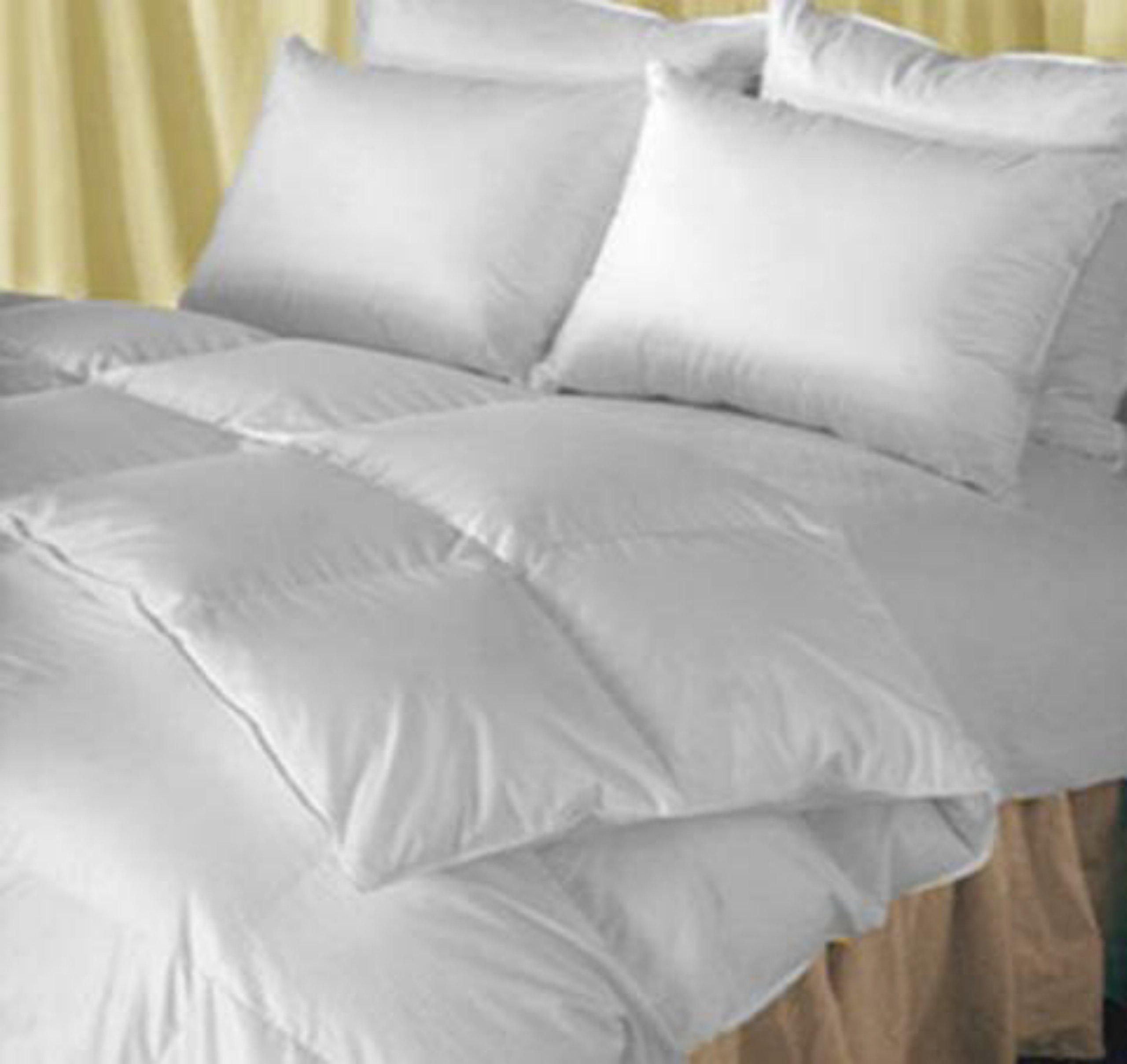 Natural Comfort Classic Heavy Fill White Goose Down Alternative Duvet Insert Comforter, Queen/Queen XL 89''x95''