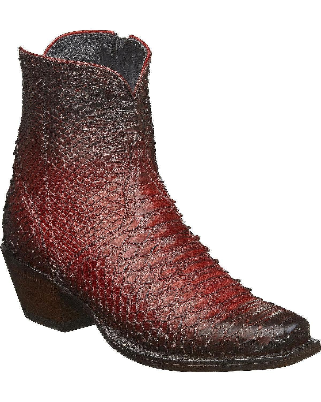 7e5c1a6663f Amazon.com | Lucchese Women's Handmade Zita Antique Python Booties ...