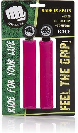 RIFYL (Race) Juego de puños para Bicicleta o Mountain Bike, Color Rosa, diámetro 30,5mm: Amazon.es: Deportes y aire libre